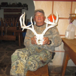 Guide Nick Forsythe with pick up antlers