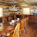 Dining room in our whitetail archery hunts kansas lodge
