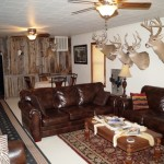 Living room for our whitetail rifle hunts in kansas