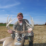 "Shannon Banks with his 169"" taken on one of his Kansas Whitetail Archery Hunts with Tall Tine Outfitters"