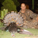 Barrett Sims with his Ocellated Turkey
