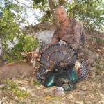 Barrett Sims with Brockett deer & Ocellated Turkey