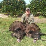 Randy Benton opening day gobblers. His 5th trip with Tall Tine Outfitters